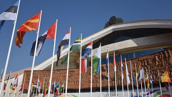 Спортивно-концертный комплекс имени К.Демирчяна, где проходит XVII саммит Франкофонии (11 октября 2018). Еревaн - Sputnik Արմենիա