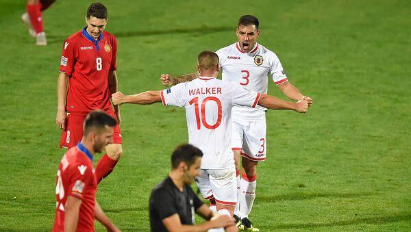 Футбольный матч Лиги Наций УЕФА между сборными Армении и Гибралтара (13 октября 2018). Еревaн - Sputnik Армения