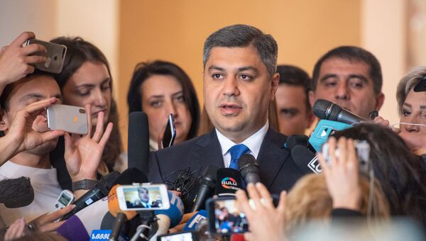 Глава СНБ Артур Ванецян встретился с журналистами после заседания Парламента Армении (16 октября 2018). Еревaн - Sputnik Армения