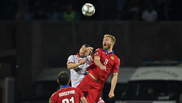 Футбольный матч Лиги Наций УЕФА между сборными Армении и Македонии (16 октября 2018). Еревaн - Sputnik Արմենիա