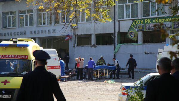 У Политехнического колледжа в Керчи, в котором произошел взрыв. - Sputnik Արմենիա