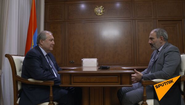 Նիկոլ Փաշինյանի և Արմեն Սարգսյանի հանդիպումը - Sputnik Արմենիա