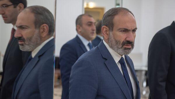Врио премьер-министра Армении Никол Пашинян на международном форуме Евразийская неделя (22 октября 2018). Еревaн - Sputnik Армения