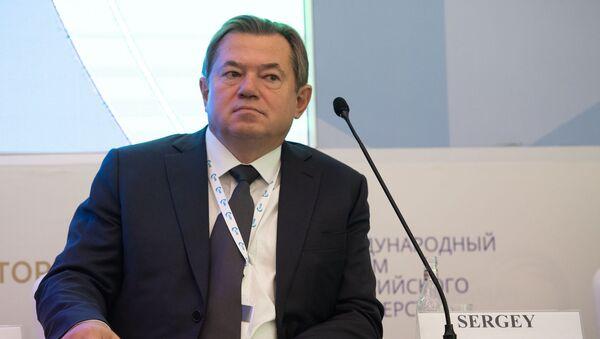 Олег Глазьев на международном форуме Евразийская неделя (23 октября 2018). Еревaн - Sputnik Армения