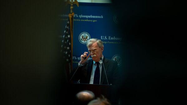 Пресс-конференция Джона Болтона в Посольстве США в Армении (25 октября 2018). Еревaн - Sputnik Արմենիա