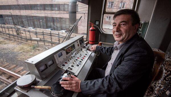 Машинист ереванского метро Ашот Еремян - Sputnik Армения