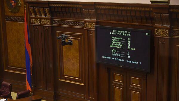 Итоги голосования в Парламенте РА (01 ноября 2018). Ереван - Sputnik Армения