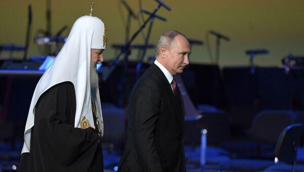 Президент РФ В. Путин принял участие в пленарном заседании Всемирного русского народного собора - Sputnik Армения