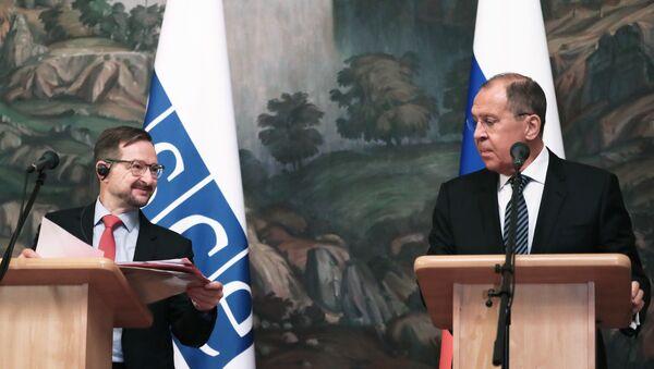 Встреча главы МИД РФ С. Лаврова с Генсекретарем ОБСЕ Т. Гремингером - Sputnik Արմենիա