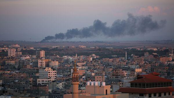 Ракетный удар Израиля по территории сектора Газа - Sputnik Армения