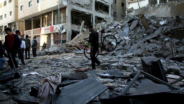 Последствия ракетного удара Израиля по территории сектора Газа - Sputnik Армения