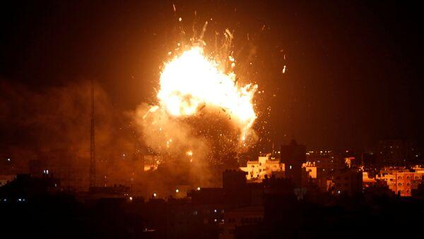 Իսրայելական ավիահարվածի ժամանակ Գազայի հատվածում պայթյուն է որոտացել  - Sputnik Արմենիա