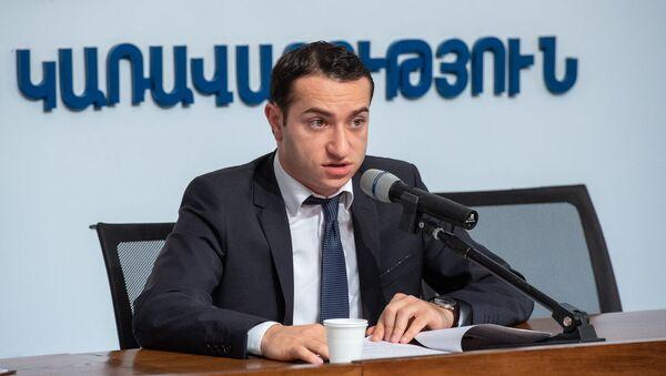 Пресс-конференция и.о. министра Диаспоры Мхитара Айрапетяна (23 ноября 2018). Еревaн - Sputnik Արմենիա