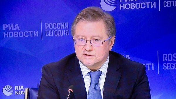 Владимир Лепехин во время видеомоста Москвa-Еревaн - Sputnik Армения