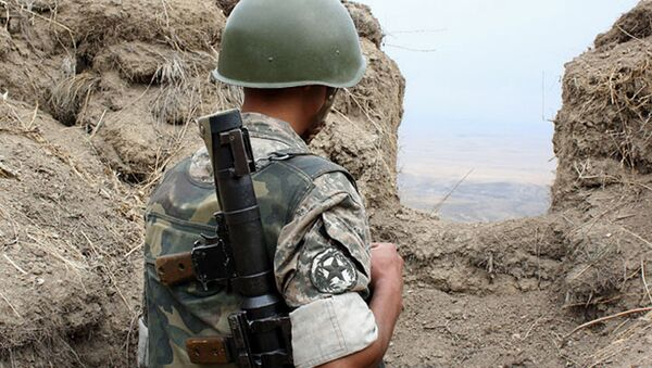 Военнослужащий армянской армии - Sputnik Արմենիա