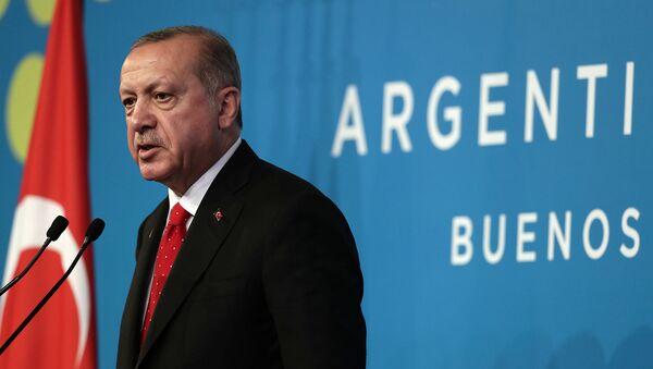 Президент Турции Реджеп Тайип Эрдоган на второй саммите лидера G20 (1 декабря 2018). Буэнос-Айрес - Sputnik Армения