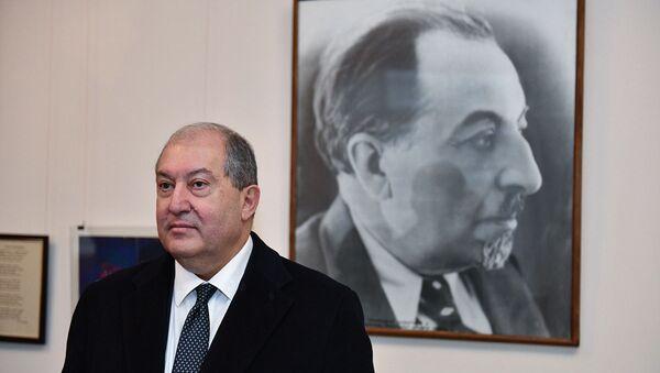Президент Армен Саркисян с супругой посетили музей Аветика Исаакяна (5 декабря 2018). Гюмри - Sputnik Արմենիա