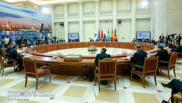 Заседание Высшего Евразийского экономического совета (6 декабря 2018). Санкт-Петербург - Sputnik Армения