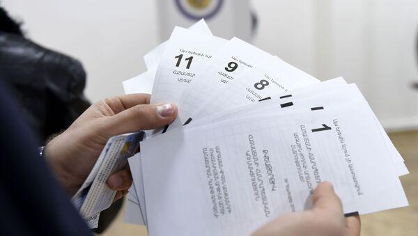 Бюллетени для голосования - Sputnik Армения