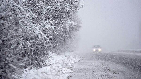 Снег на трассе - Sputnik Արմենիա