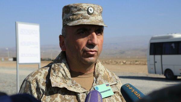 Генерал-майор Карен Абраамян во время учений Взаимодействие 2017 (9 октября 2017). Армения - Sputnik Армения