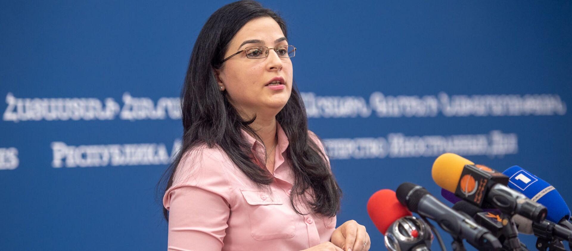Пресс-конференция спикера МИД Армении Анны Нагдалян (20 декабря 2018). Еревaн - Sputnik Армения, 1920, 15.04.2021