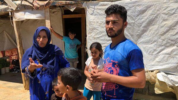 Сирийские беженцы в палаточном лагере в центральном Бекаа в поселении Каб Эльяс (11 августа 2018). Ливан - Sputnik Արմենիա