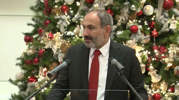 Նիկոլ Փաշինյանի ելույթն Ամանորի և Սուրբ Ծննդյան տոների առթիվ ԿԲ-ում կազմակերպված ընդունելությանը - Sputnik Արմենիա