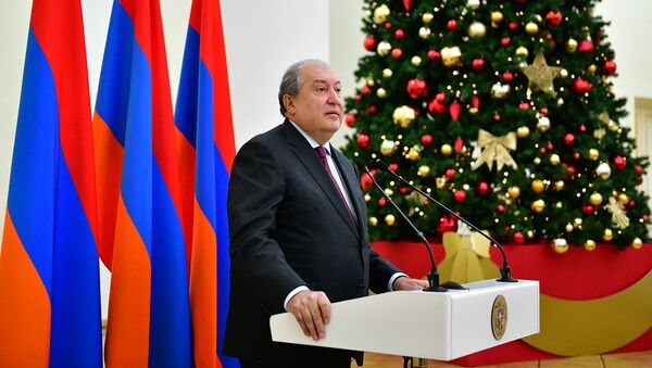 Армен Саркисян поздравил присутствующих с Новым годом - Sputnik Արմենիա