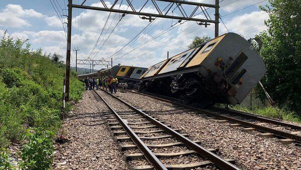 Место крушения поезда в Претории (8 января 2019). ЮАР - Sputnik Армения