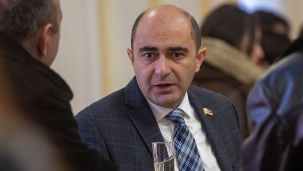 Эдмон Марукян во время приема для прессы (11 января 2019). Еревaн - Sputnik Армения