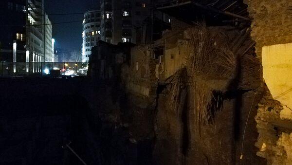 Обрушенное историческое здание на Арами 23 (11 января 2019). Ереван - Sputnik Армения