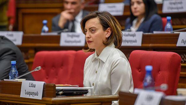 Лена Назарян во время первого заседания парламента Армении 7-го созыва (14 января 2019). Еревaн - Sputnik Армения