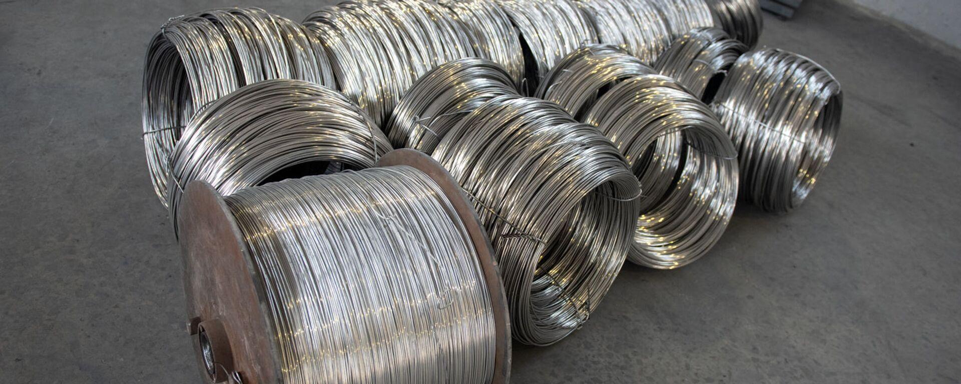 Алюминиевая проволока на кабельном заводе Ин-Ви Лайн - Sputnik Армения, 1920, 02.09.2021