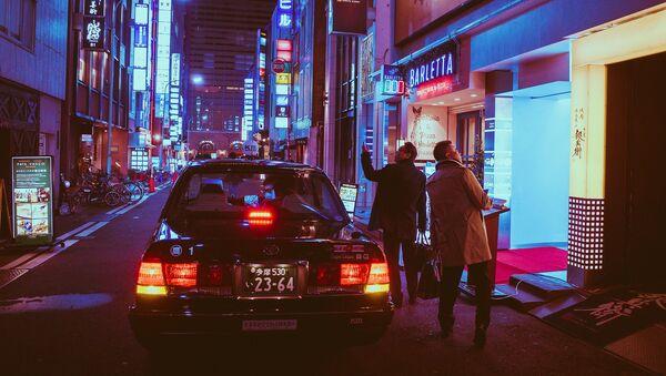 Вид на ночной город Осака, Япония - Sputnik Армения
