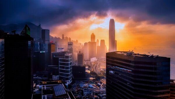 Вид на ночной Гонконг - Sputnik Армения