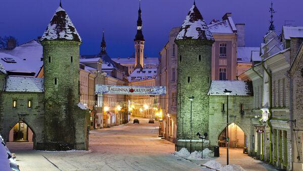 Вид на ночной Таллин, Эстония - Sputnik Արմենիա