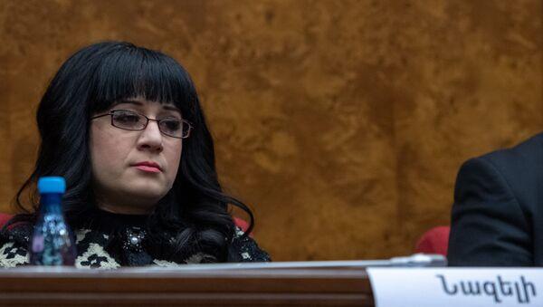 Депутат от фракции Мой Шаг Назели Багдасарян на заседании Парламента (18 января 2019). Еревaн - Sputnik Армения