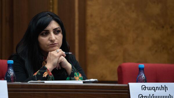 Депутат от фракции Мой Шаг Тагуи Товмасян на заседании Парламента (18 января 2019). Еревaн - Sputnik Армения