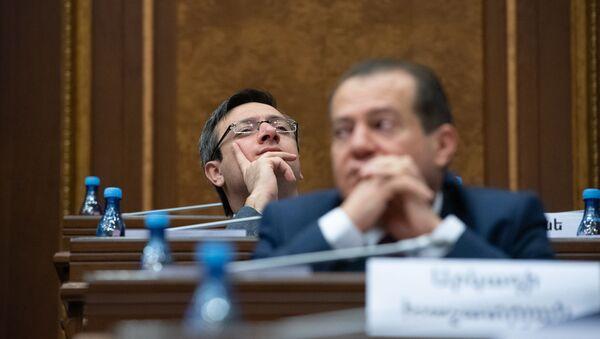 Секретарь фракции Просвещенная Армения Геворг Горгисян на заседании Парламента (18 января 2019). Еревaн - Sputnik Արմենիա