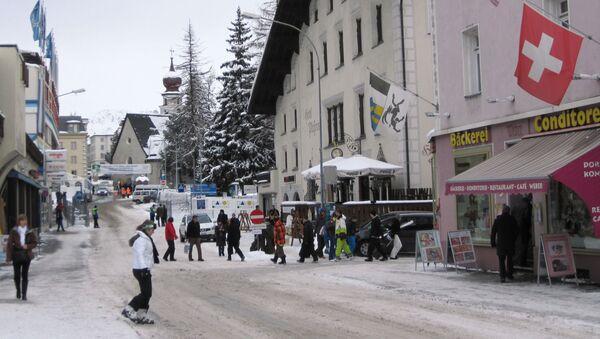 На одной из улиц швейцарского Давоса, в котором проходит Всемирный экономический форум. - Sputnik Արմենիա