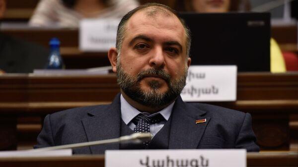 Депутат от фракции Мой Шаг Ваагн Тевосян на заседании парламента Армении (15 января 2019). Еревaн - Sputnik Արմենիա