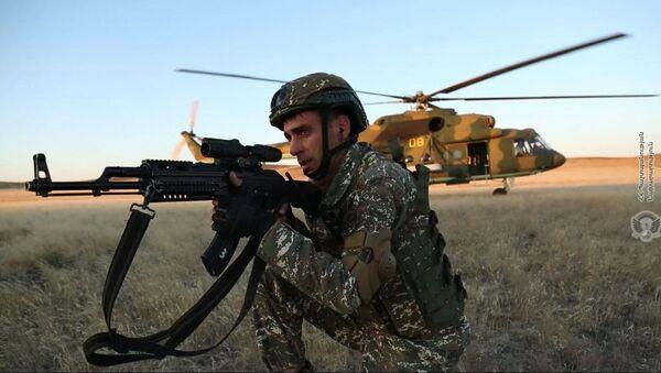 Военные учения армянских военнослужащих - Sputnik Армения