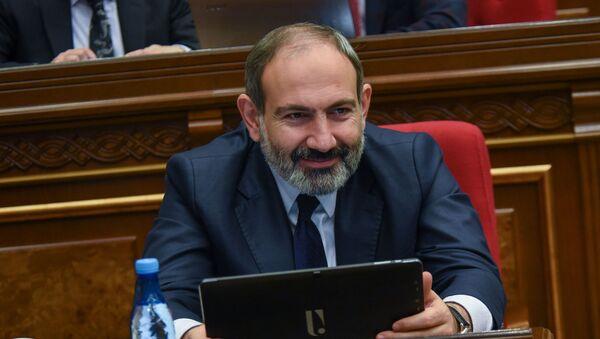Премьер-министр Никол Пашинян на внеочередном заседании парламента Армении (14 февраля 2019). Еревaн - Sputnik Արմենիա