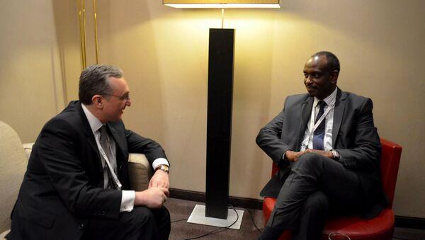 Встреча министров иностранных дел Армении и Руанды - Sputnik Արմենիա