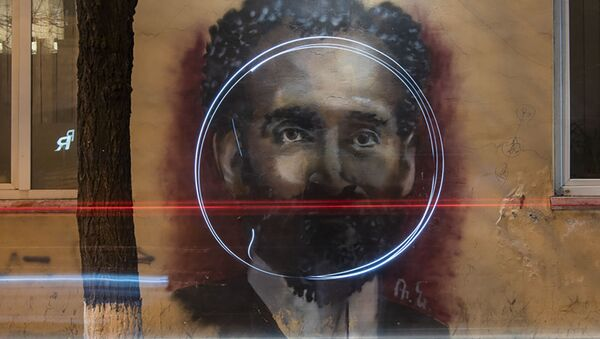 Граффити Туманяна в Ереване - Sputnik Արմենիա