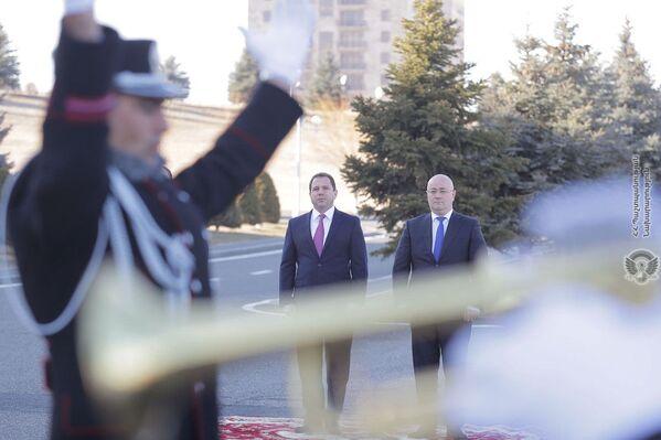 Վրաստանի պաշտպանության նախարար Լևոն Իզորիայի առաջին պաշտոնական այցը Հայաստան - Sputnik Արմենիա