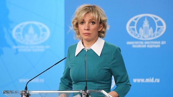 Официальный представитель МИД России Мария Захарова во время брифинга (22 февраля 2019). Москвa - Sputnik Армения