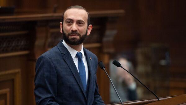 Спикер Национального собрания Арарат Мирзоян на пленарном заседании Парламента Армении (5 марта 2019). Еревaн - Sputnik Արմենիա