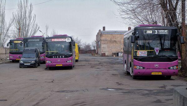 Забастовка водителей автобусов - Sputnik Армения